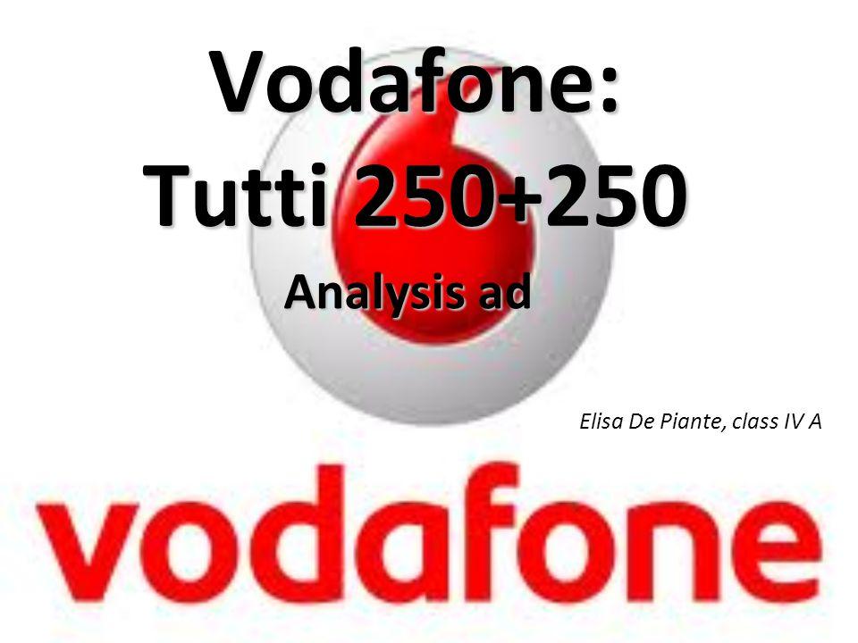 Vodafone: Tutti 250+250 Analysis ad Elisa De Piante, class IV A