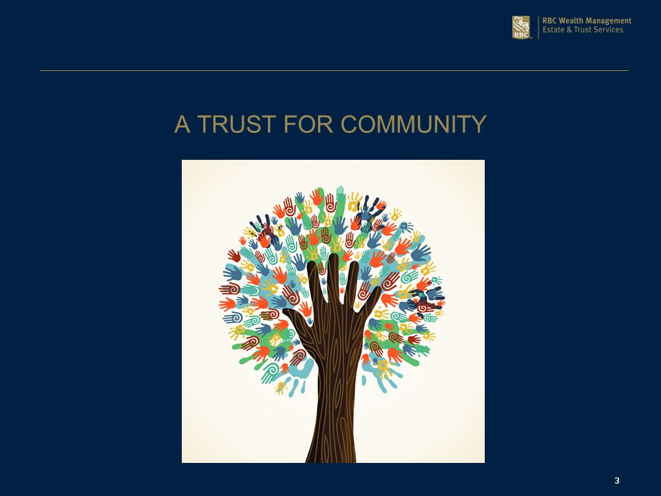 3 A TRUST FOR COMMUNITY 3