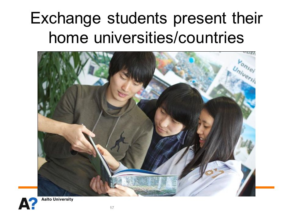17 Exchange students present their home universities/countries