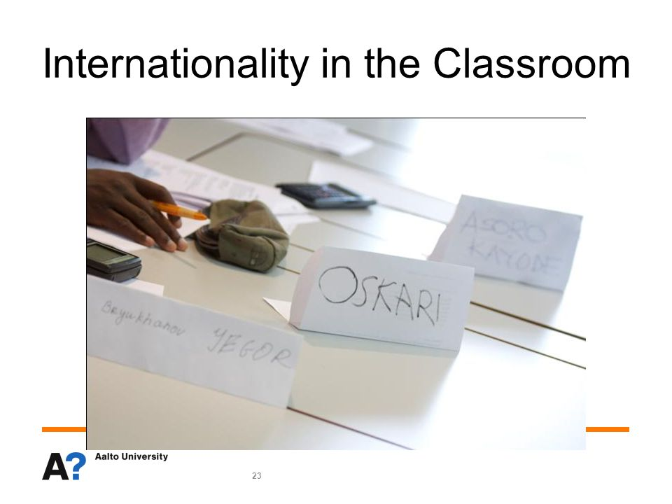 23 Internationality in the Classroom