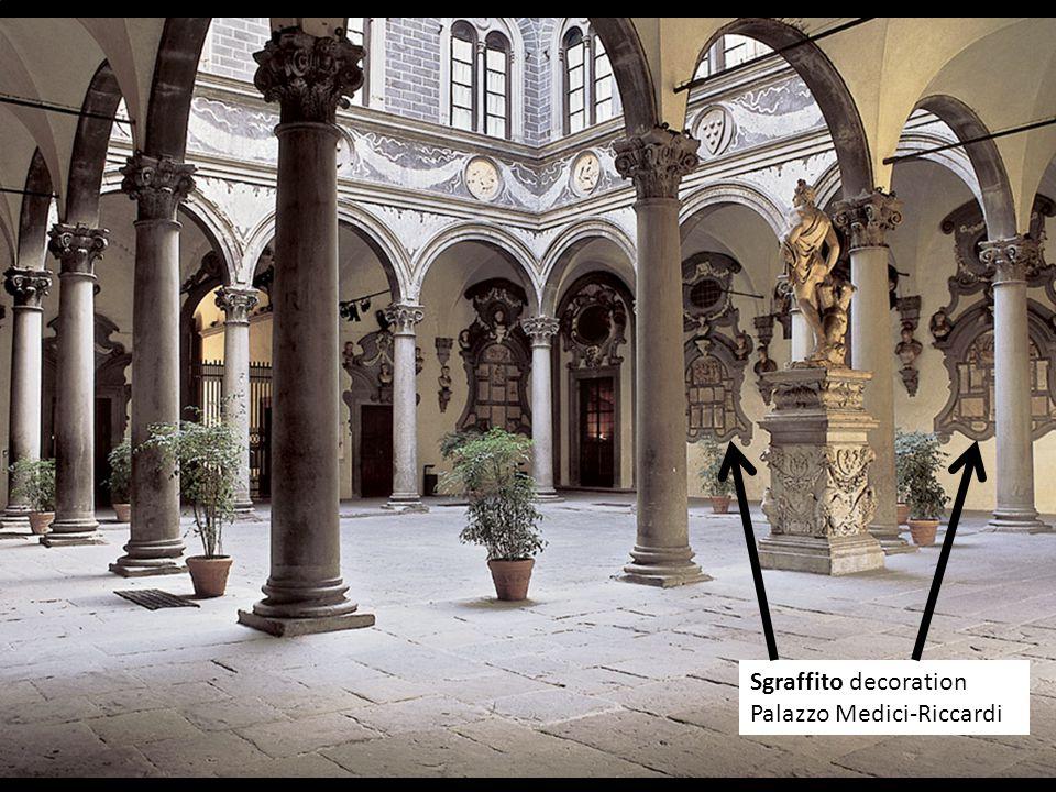 Sgraffito decoration Palazzo Medici-Riccardi