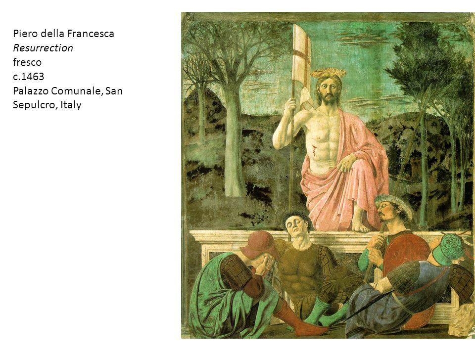 Piero della Francesca Resurrection fresco c.1463 Palazzo Comunale, San Sepulcro, Italy