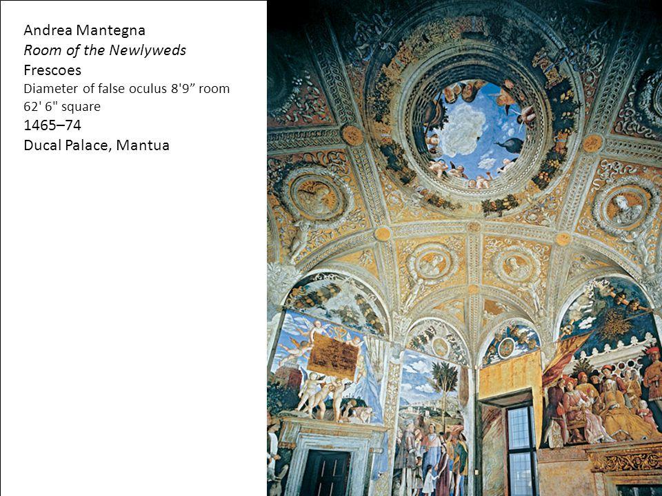 "Andrea Mantegna Room of the Newlyweds Frescoes Diameter of false oculus 8'9"" room 62' 6"