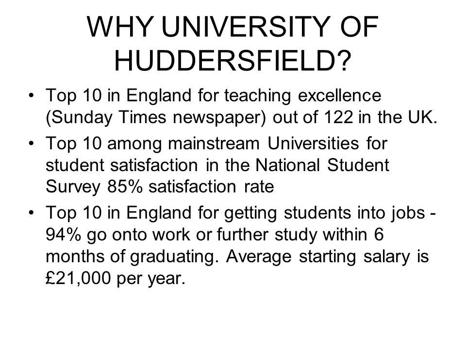 WHY UNIVERSITY OF HUDDERSFIELD BUSINESS SCHOOL.