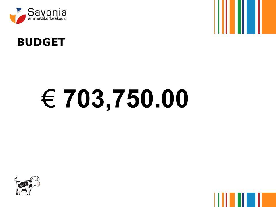 BUDGET € 703,750.00