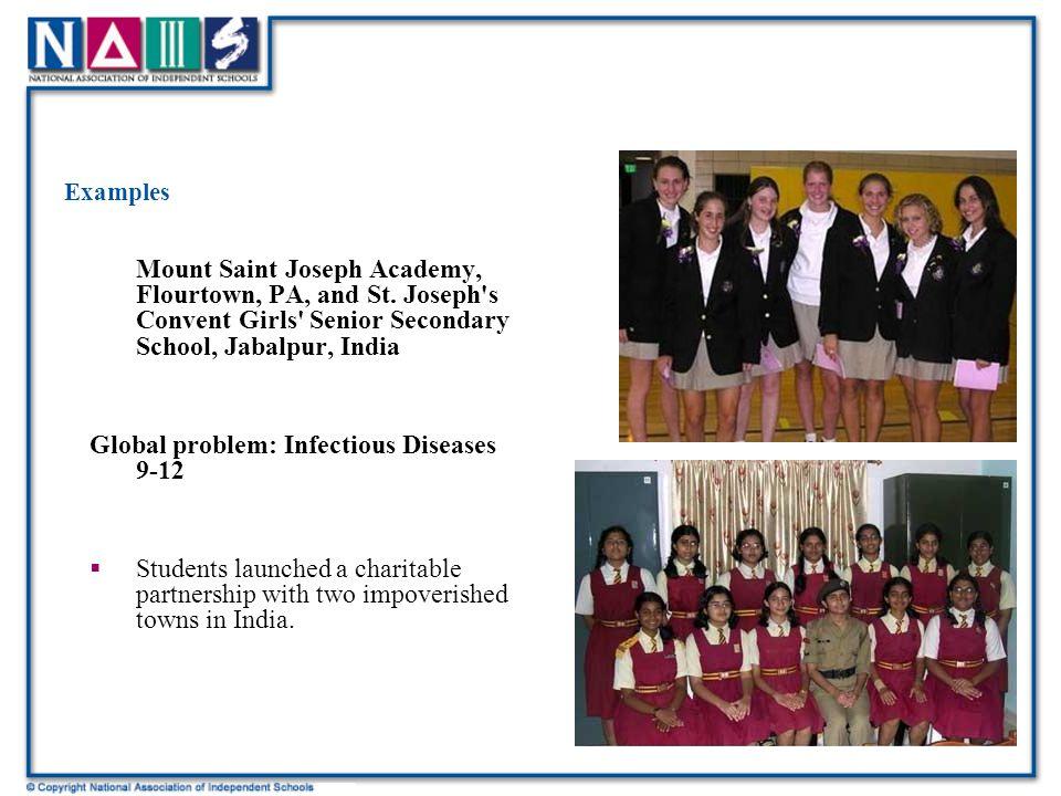 Examples Mount Saint Joseph Academy, Flourtown, PA, and St.