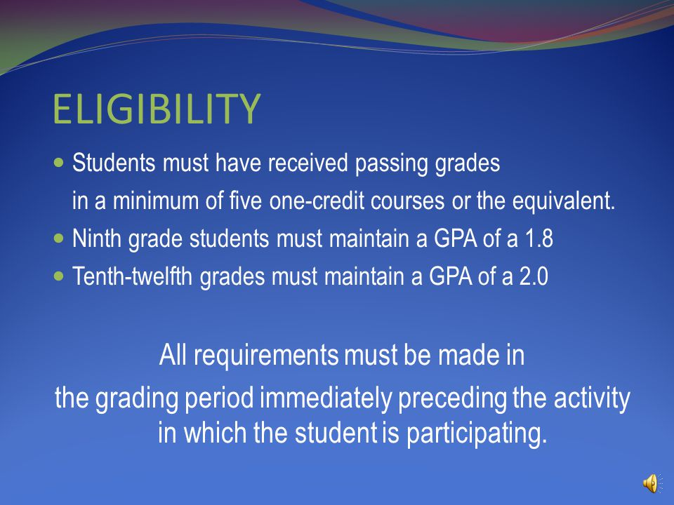 GRADUATION REQUIREMENTS Language Arts4 ½units Mathematics4units Science3units Social Studies3units Health½units Physical Education½units Electives5 ½units One Elective unit must include coursework in Fine Arts.