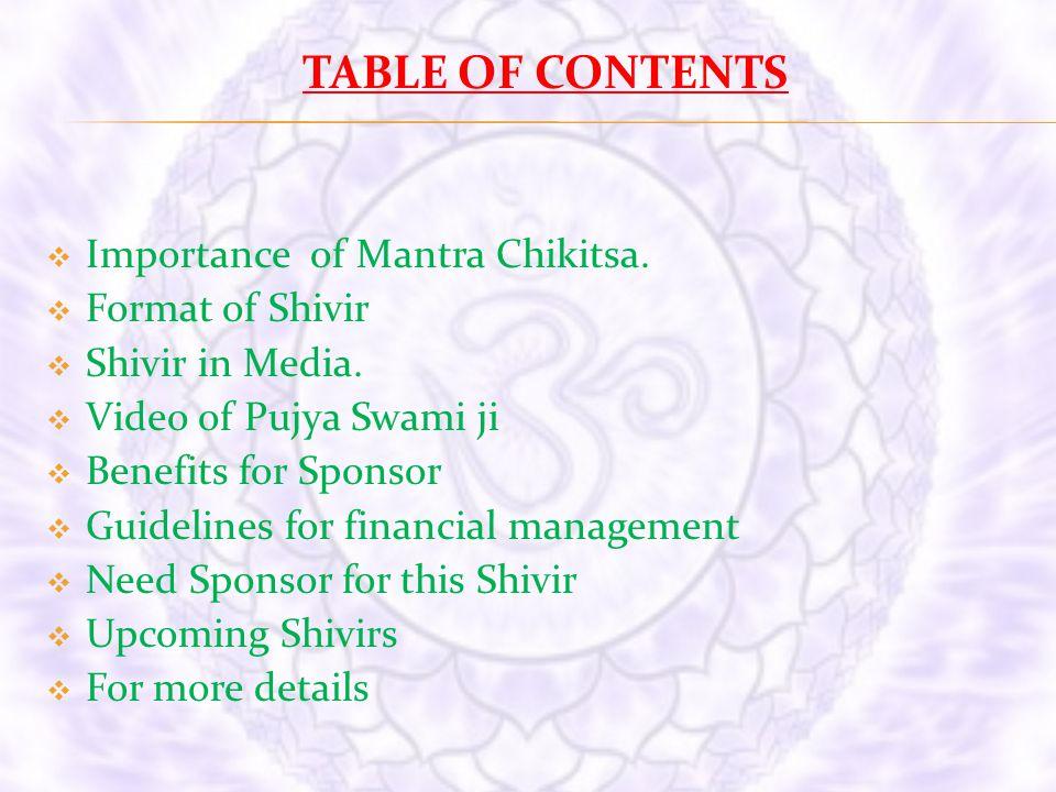 Mantra Sadhana &Chikitsa Shivir