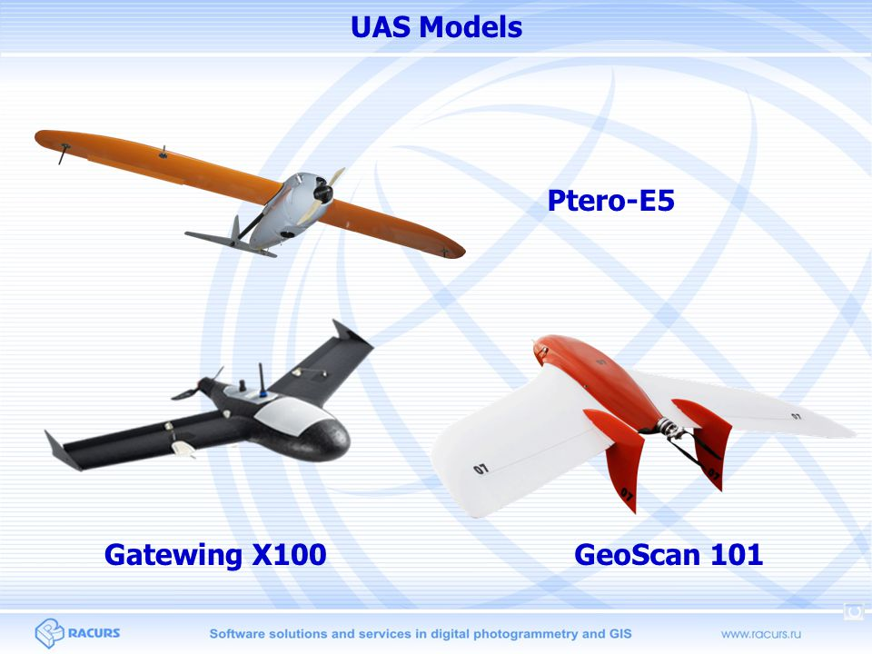 Objectives Process Ptero UAS imagery with high-precision projection centers coordinates Compare accuracy of adjustment for Ptero data over small area vs whole block Compare accuracy of adjustment results from different UAS models