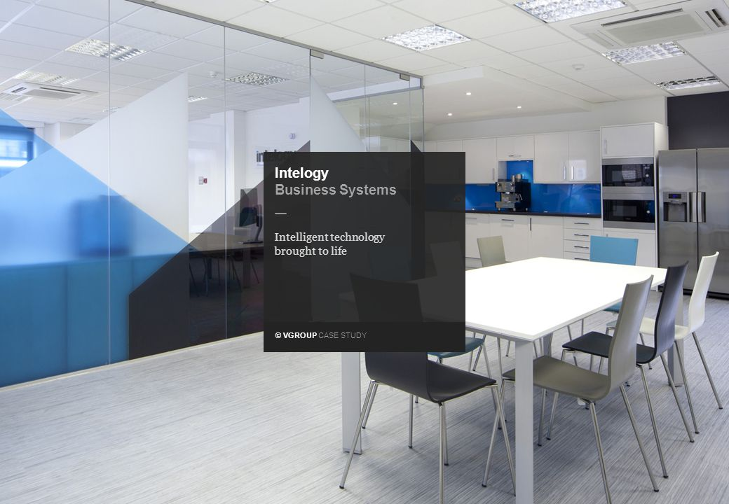 _ © VGROUP CASE STUDY Intelogy Business Systems Operating at the forefront of business systems technology, the only thing standing in BMN's way was an uninspiring name and brand identity that lacked any real meaning.