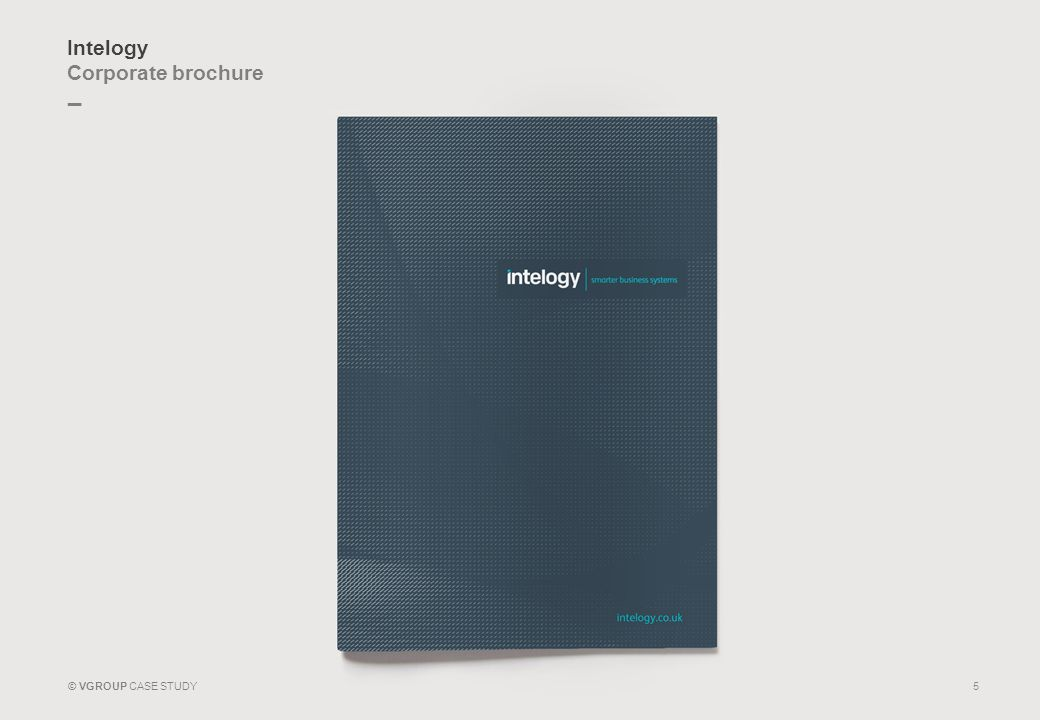 _ © VGROUP CASE STUDY Intelogy Corporate brochure 5