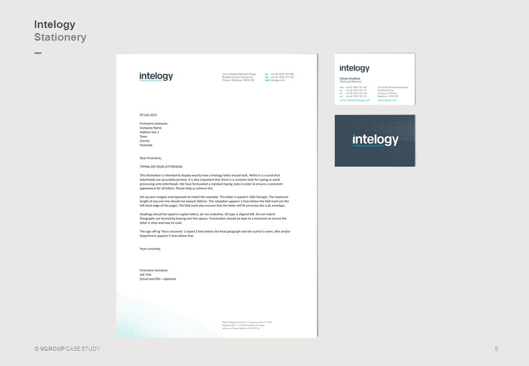 _ © VGROUP CASE STUDY Intelogy Stationery 6
