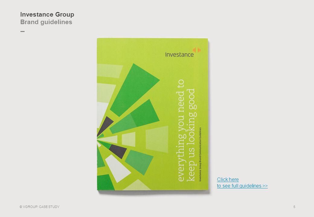 _ Investance Group Visual identity 6 © VGROUP: CASE STUDY