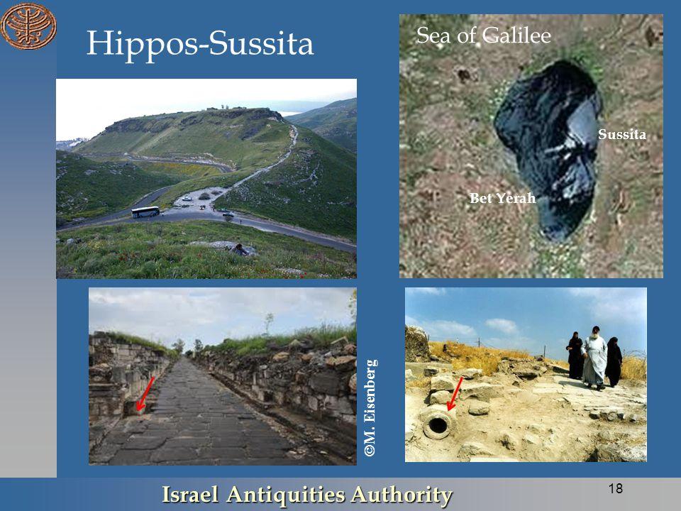Hippos-Sussita Israel Antiquities Authority 18 Sea of Galilee Sussita Bet Yerah  M. Eisenberg
