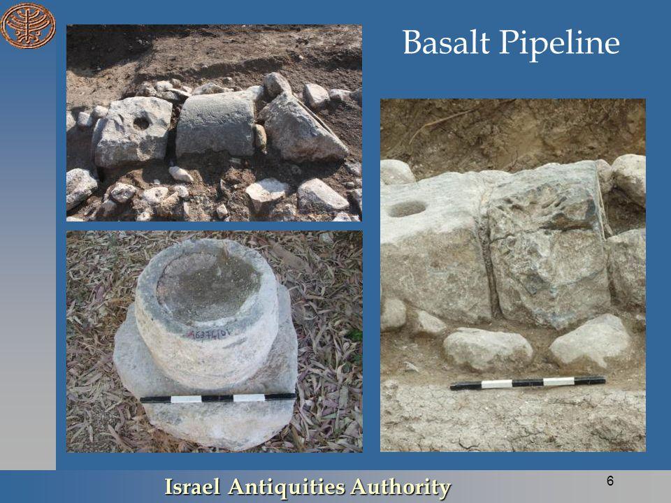 Basalt Pipeline Israel Antiquities Authority 6
