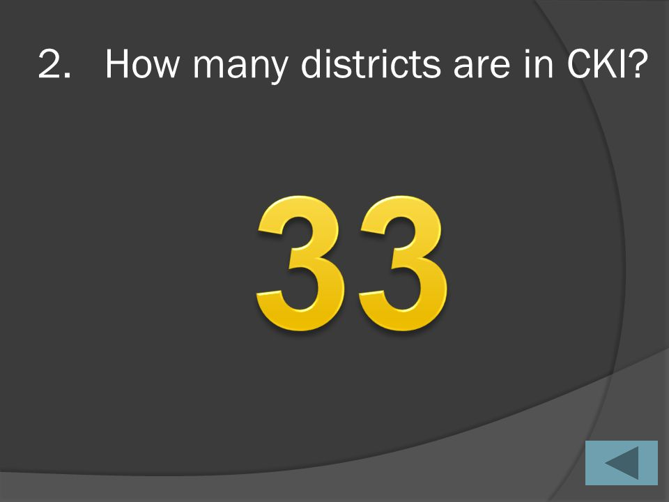 2.How many districts are in CKI?