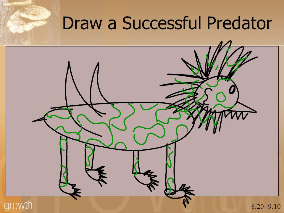 Draw a Successful Predator 8:20- 9:10