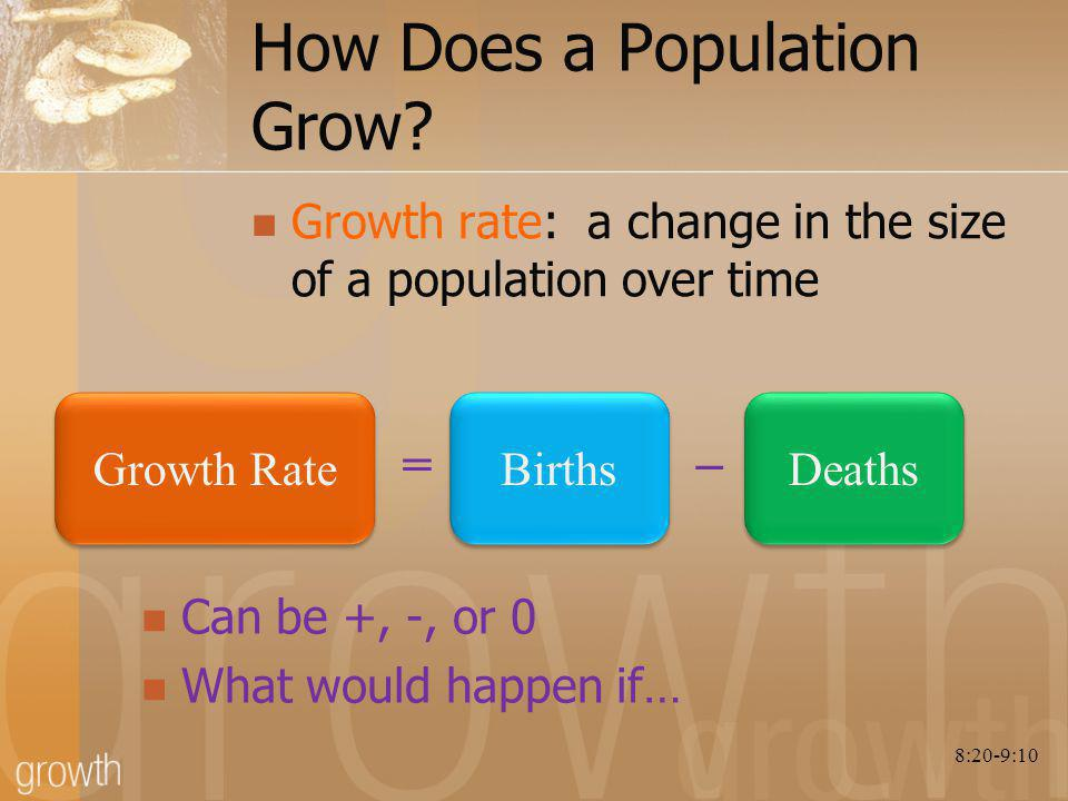 How Does a Population Grow.