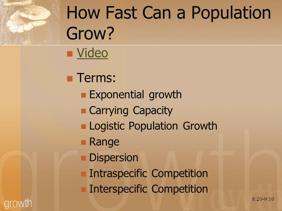 How Fast Can a Population Grow.