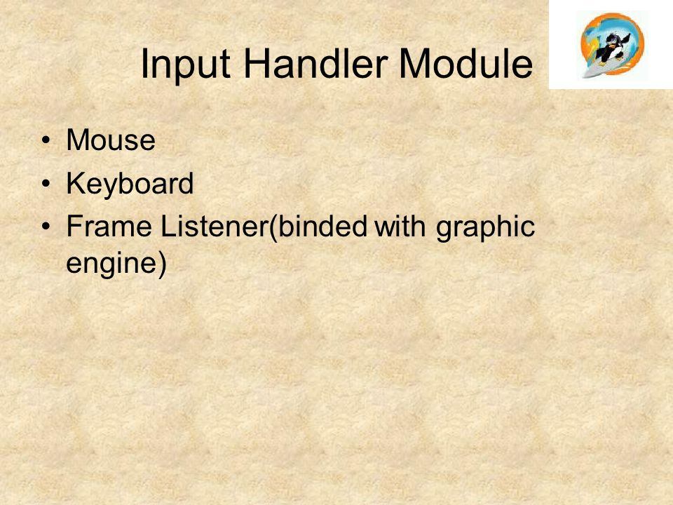 Input Handler Module Mouse Keyboard Frame Listener(binded with graphic engine)