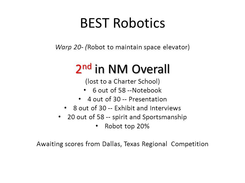 Hatch Valley High School Enrollment in STEM Courses Advanced Math – 36 (10%) Advanced Sciences – 63 (18%) BEST Robotics- 37 (11%) Science Olympiad 20+ NM Pre-Engineering Prep Program- 30+