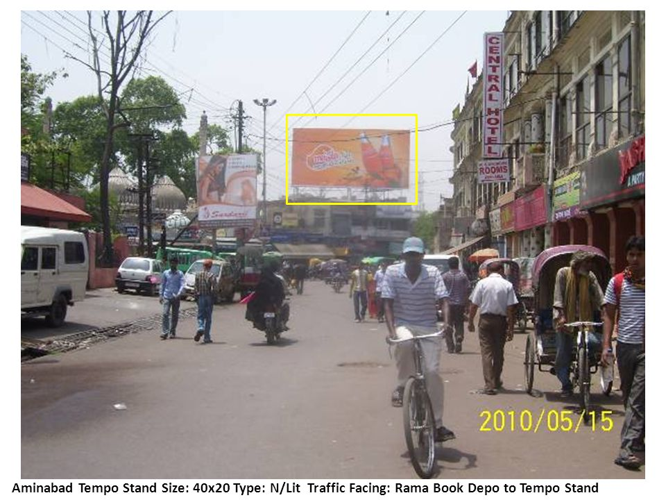 Location: Aminabad Tempo Stand Size: 20x20 Type: N/Lit Traffic Facing: Kiserbag xing to Aminabad