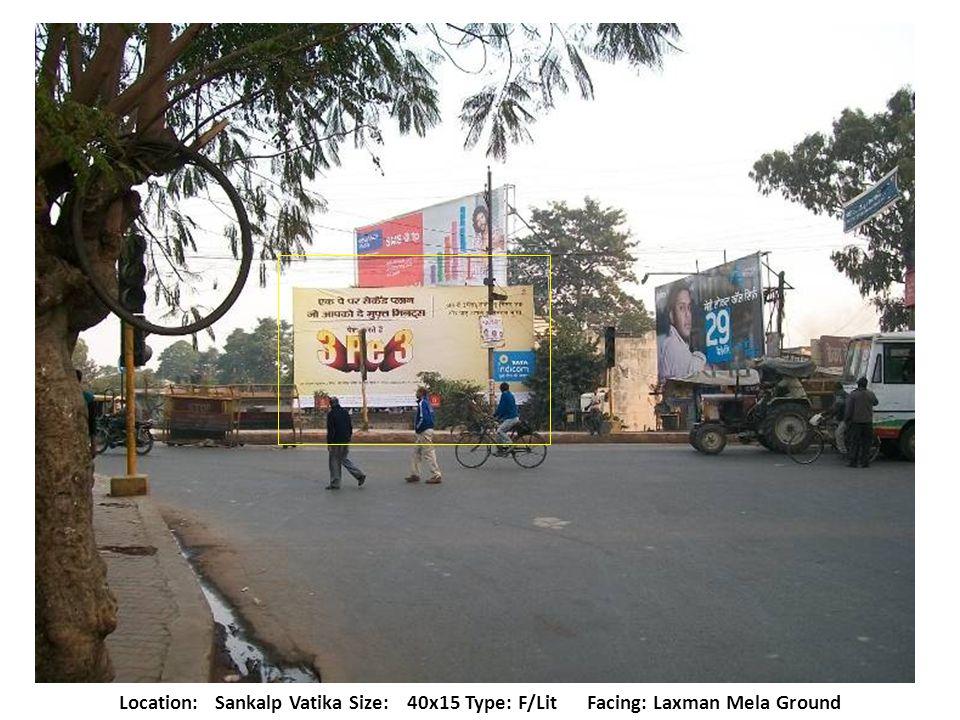 Location:Faizabad Road Size:40x20 Type: F/Lit Traffic Facing: Lekhraj to Badshahnagar