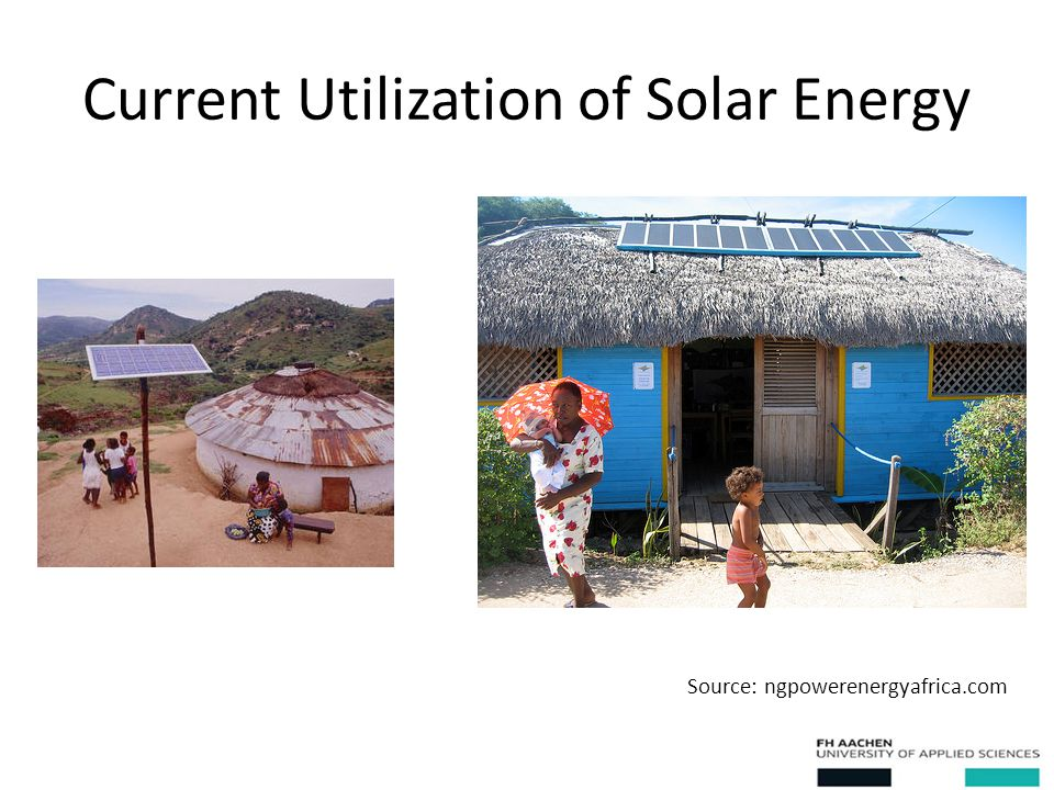 Current Utilization of Solar Energy Source: ngpowerenergyafrica.com