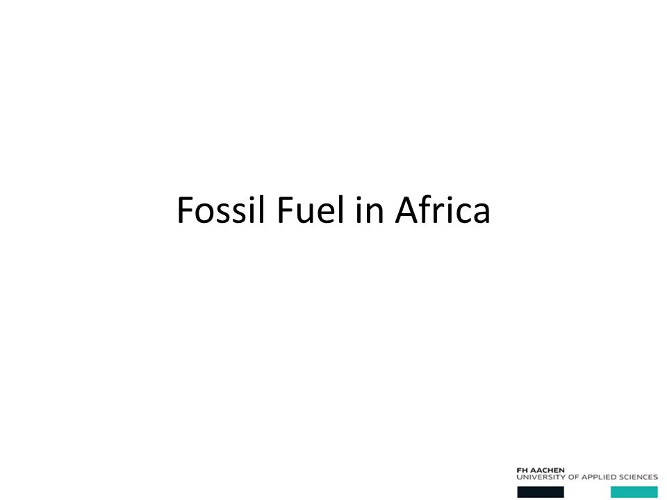 Fossil Fuel in Africa