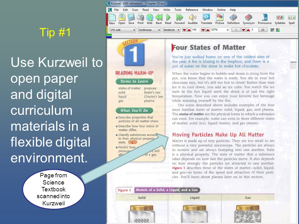 Tip #10 Search for books and reference articles online from within Kurzweil.