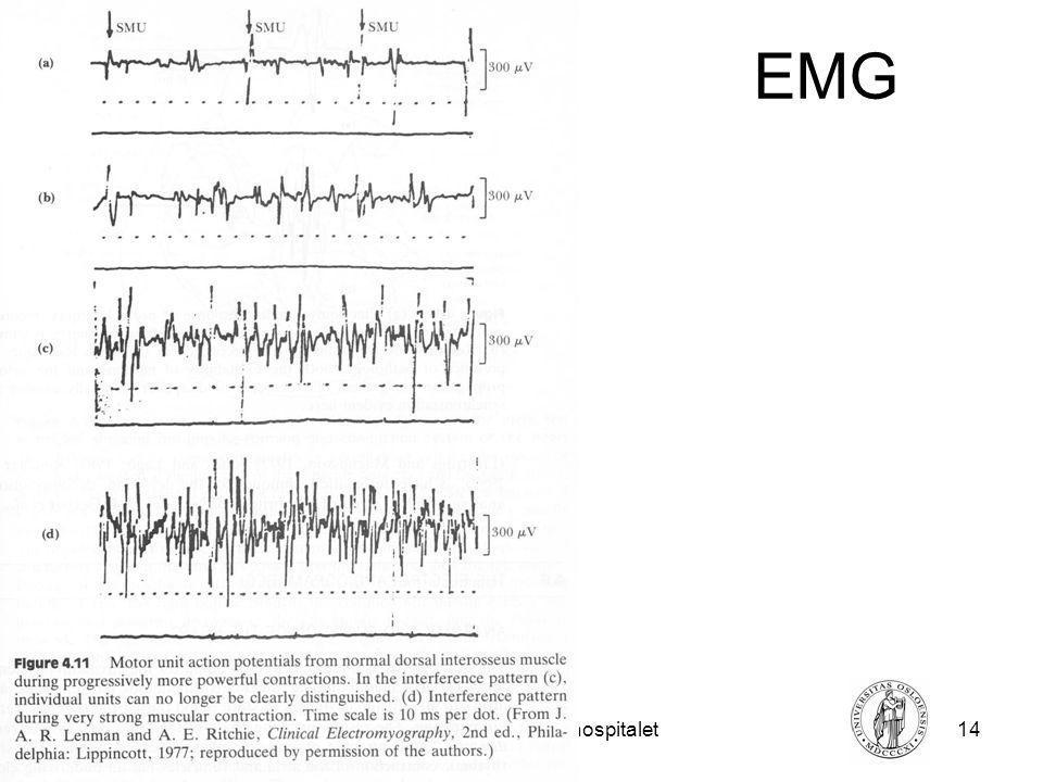 Fysisk institutt - Rikshospitalet14 FYS 4250 EMG