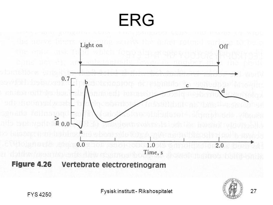 Fysisk institutt - Rikshospitalet27 FYS 4250 ERG