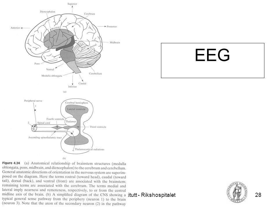 Fysisk institutt - Rikshospitalet28 FYS 4250 EEG