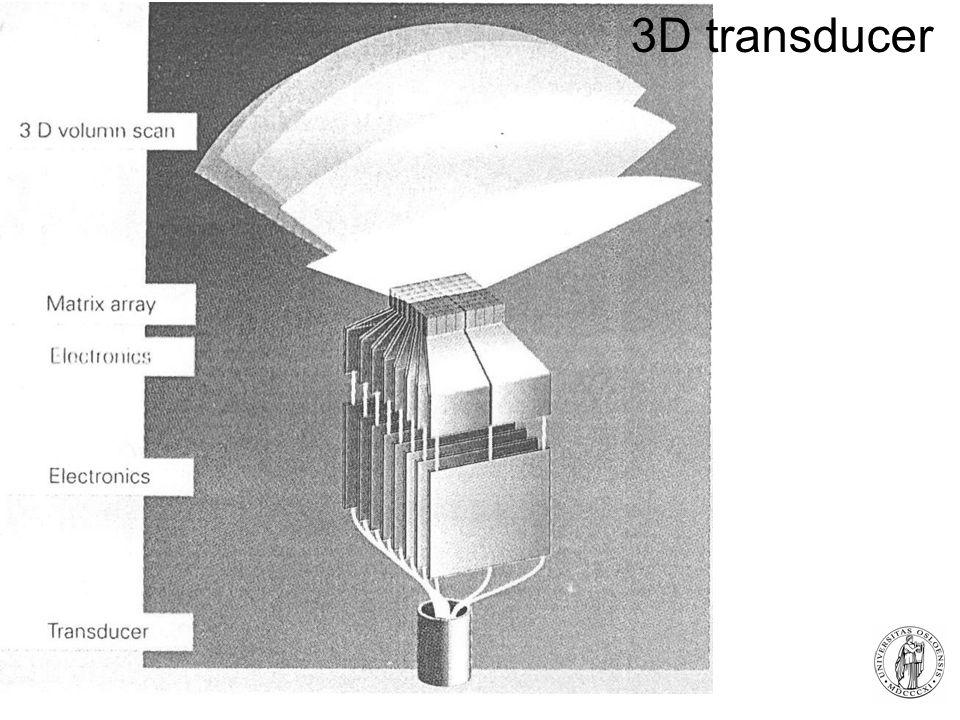Fysisk institutt - Rikshospitalet 29 3D transducer