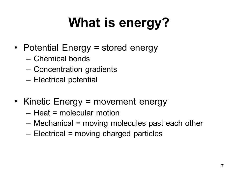 What is energy.