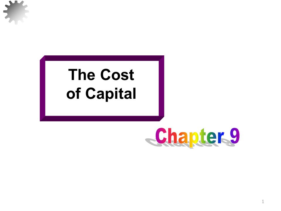 Learning Goals Sources of capital Cost of each type of funding Calculation of the weighted average cost of capital (WACC) Construction and use of the marginal cost of capital schedule (MCC) 2