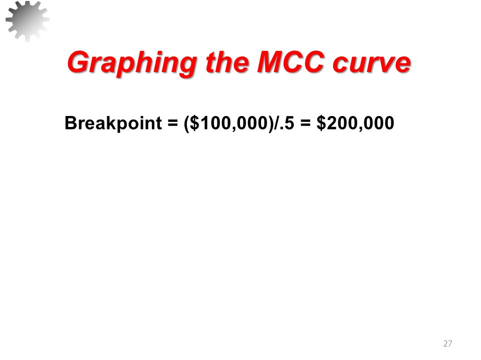 Making Decisions Using MCC 28 Weighted Cost of Capital Total Financing 10% 11% 12% 13% 0100,000200,000300,000 400,000 Marginal weighted cost of capital curve: Using internal common equity Using new common equity 11.72% 11.09%
