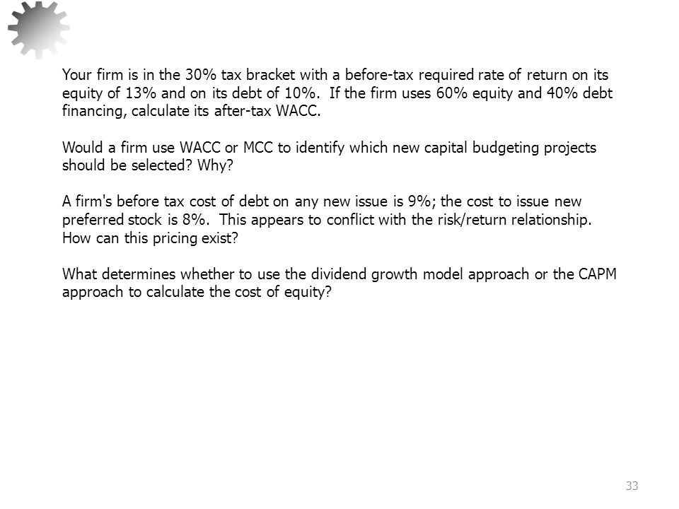 Capital Budgeting Decision Methods 1