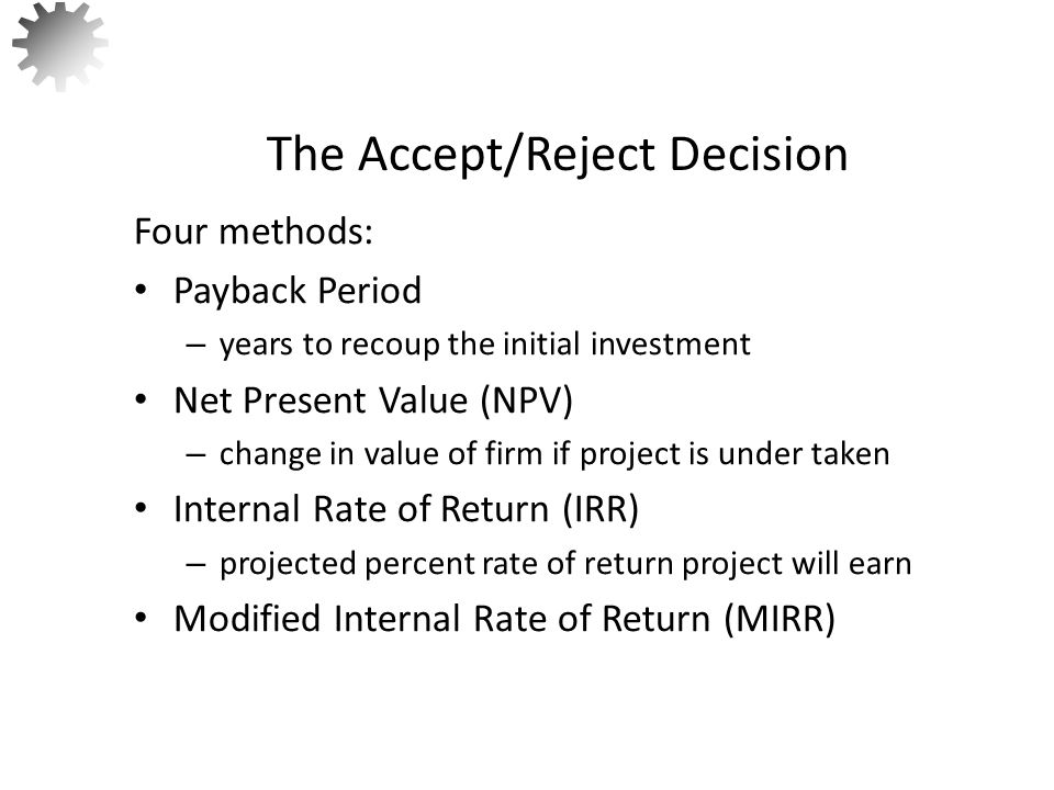 Consider Projects A and B that have the following expected cashflows.