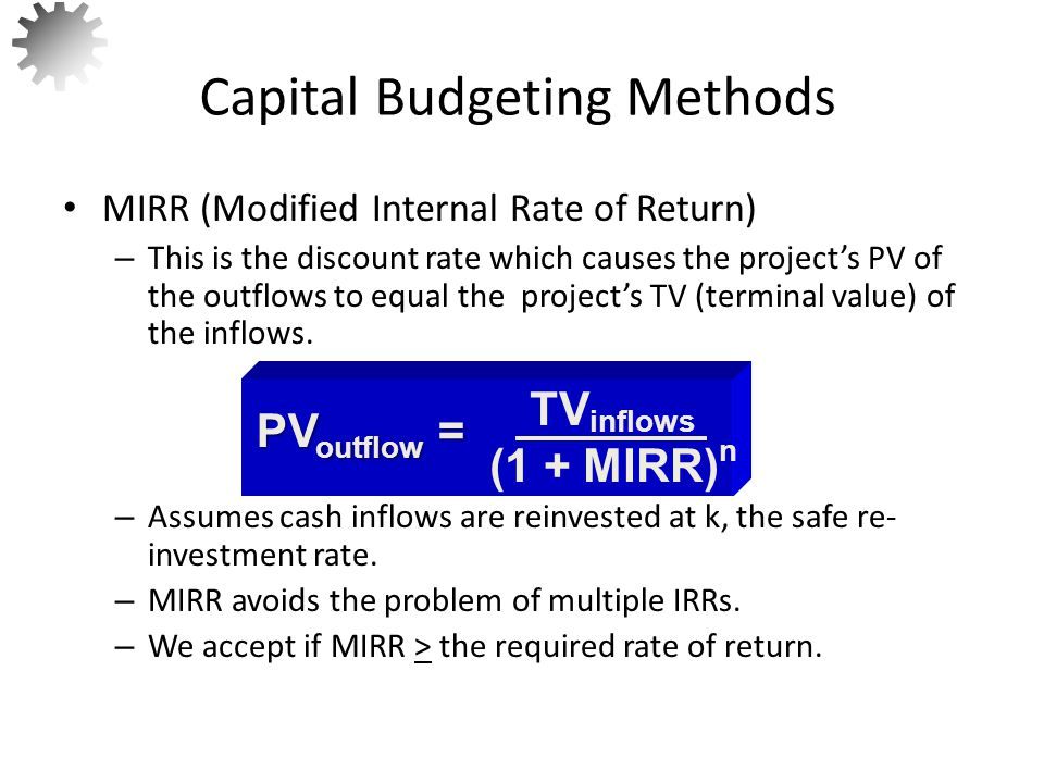 What is the MIRR for Project B.