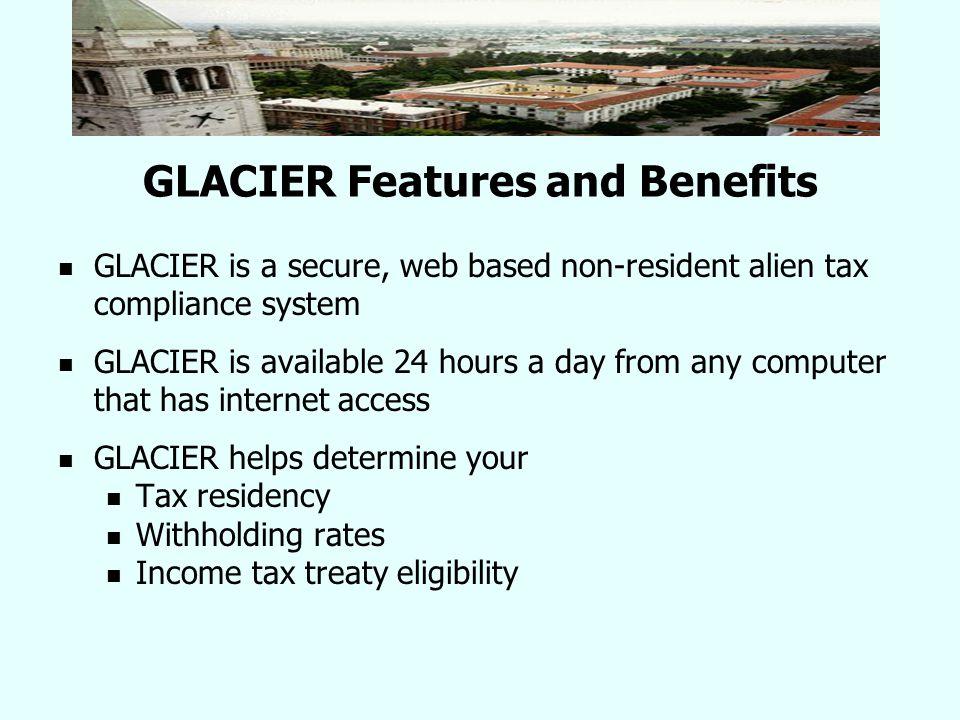 Who requires a GLACIER tax record.No GLACIER Record GLACIER Record Required U.S.