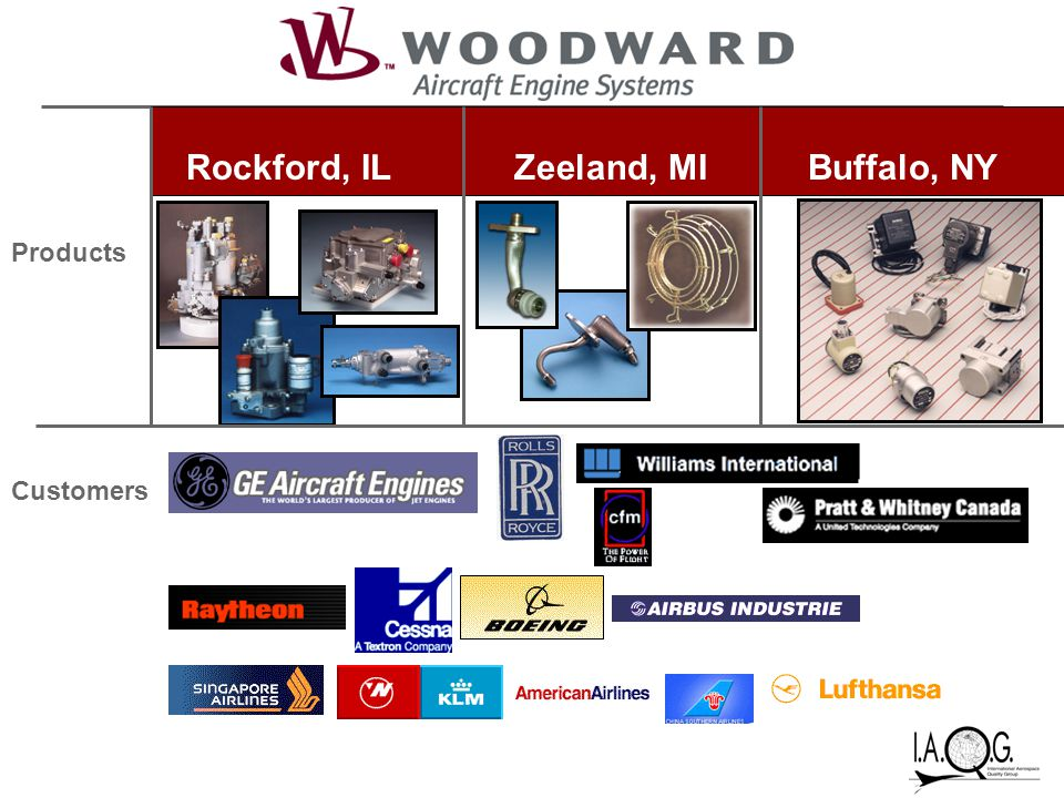 Rockford, ILZeeland, MIBuffalo, NY Products Customers