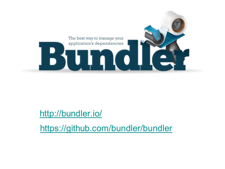 http://bundler.io/ https://github.com/bundler/bundler