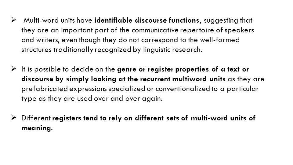 Type 2 : Postpositional Phrases 2.3.