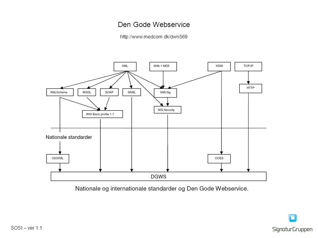 SOSI – ver 1.1 Den Gode Webservice http://www.medcom.dk/dwn569