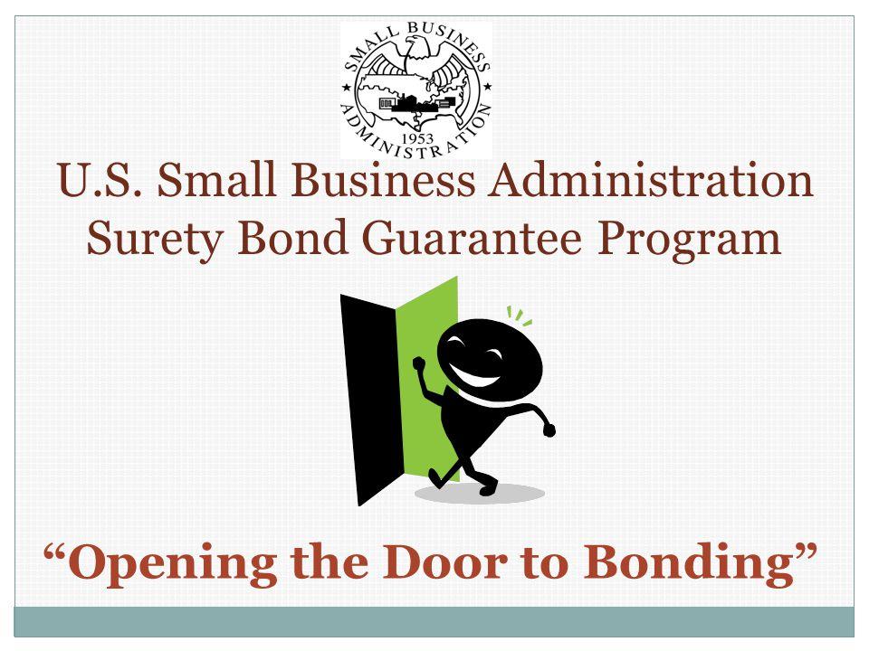 How Can SBA Help Small Contractors Obtain Bonding.