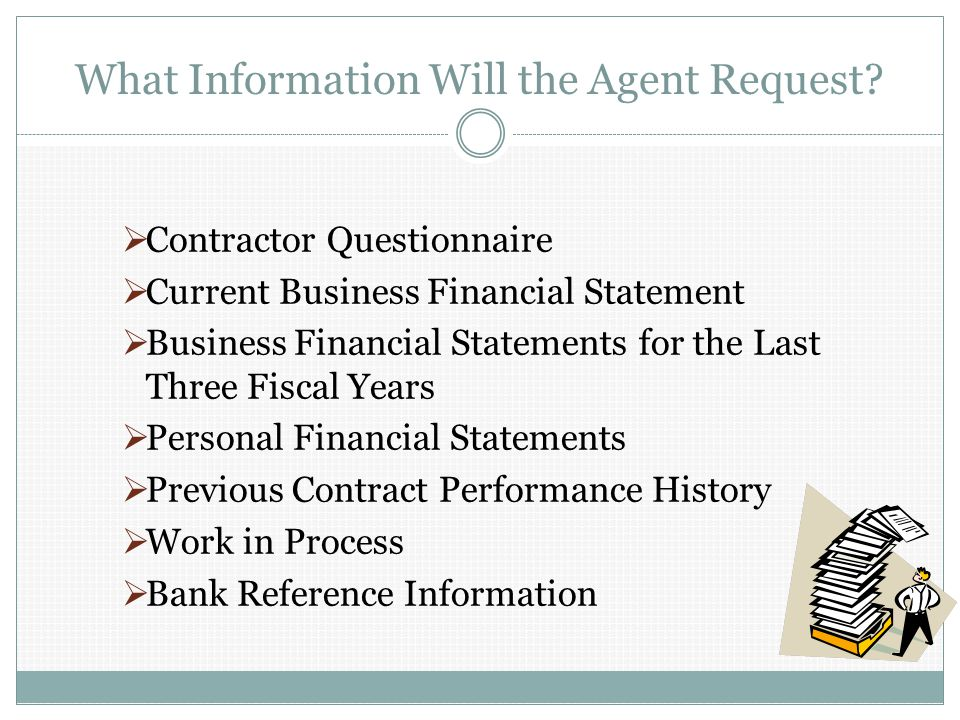 What Information Will the Agent Request.