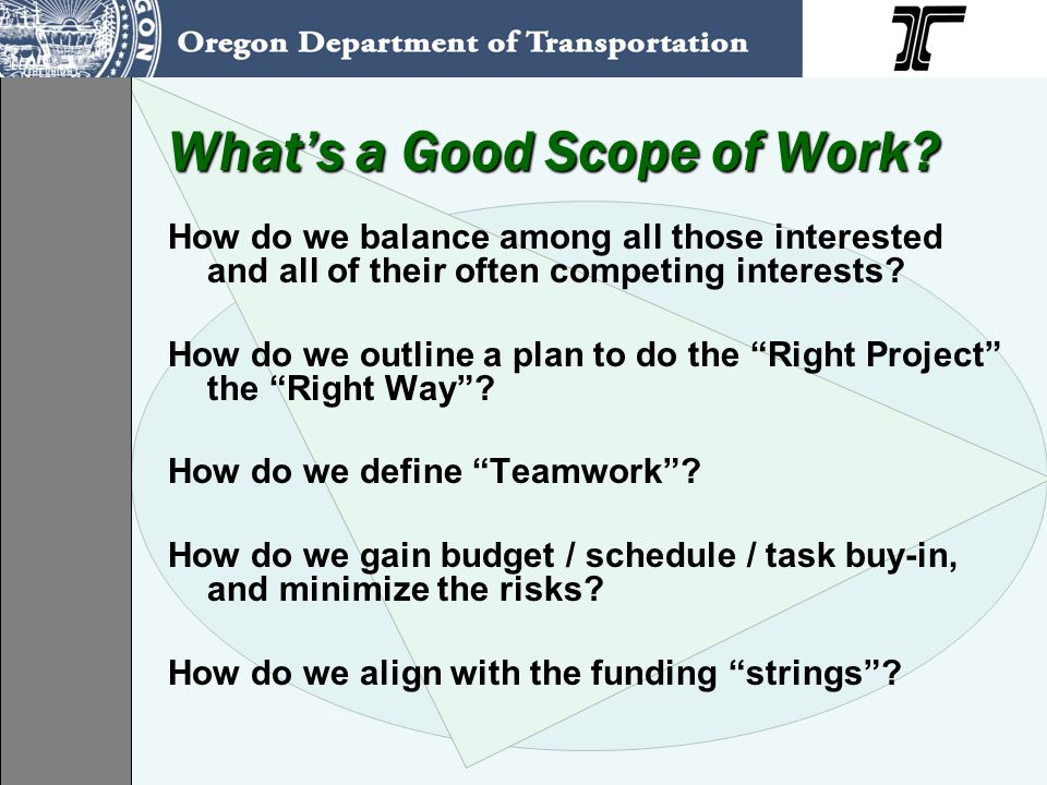 Have a good Work Plan.Who's on the initial team, who's in charge, who makes decisions.