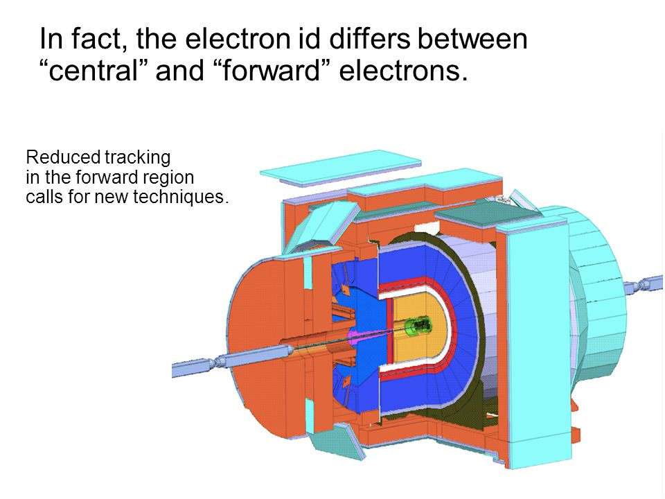 "In fact, the electron id differs between ""central"" and ""forward"" electrons. In fact, the electron id differs between ""central"" and ""forward"" electrons"