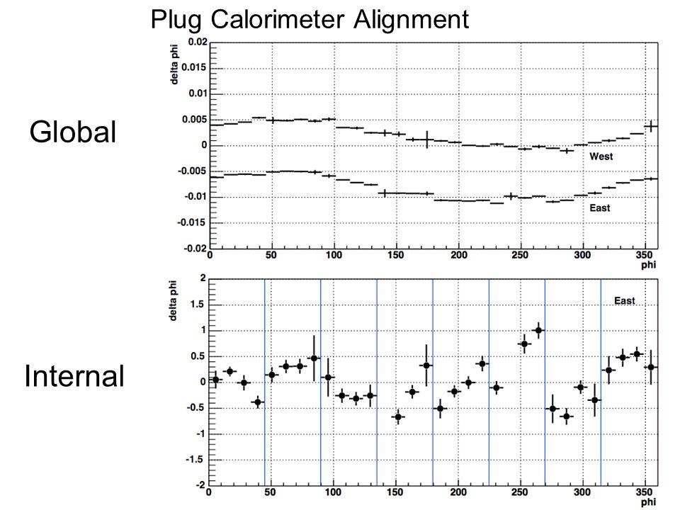 Plug Calorimeter Alignment Global Internal
